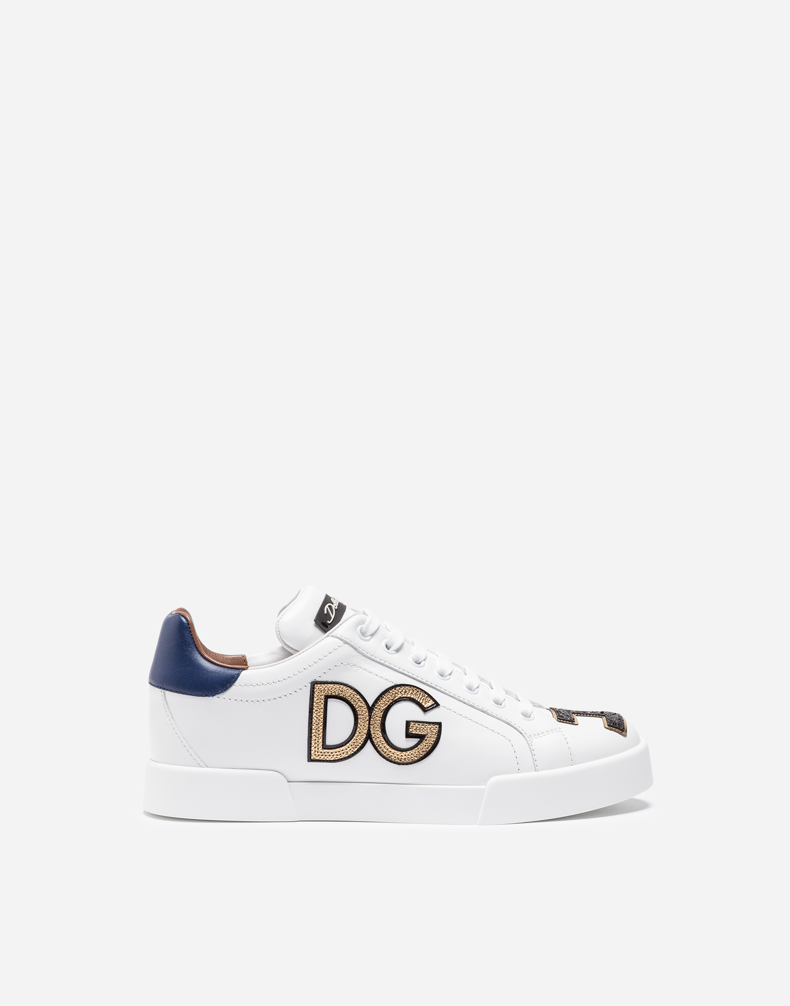 LEATHER PORTOFINO SNEAKERS WITH PATCH