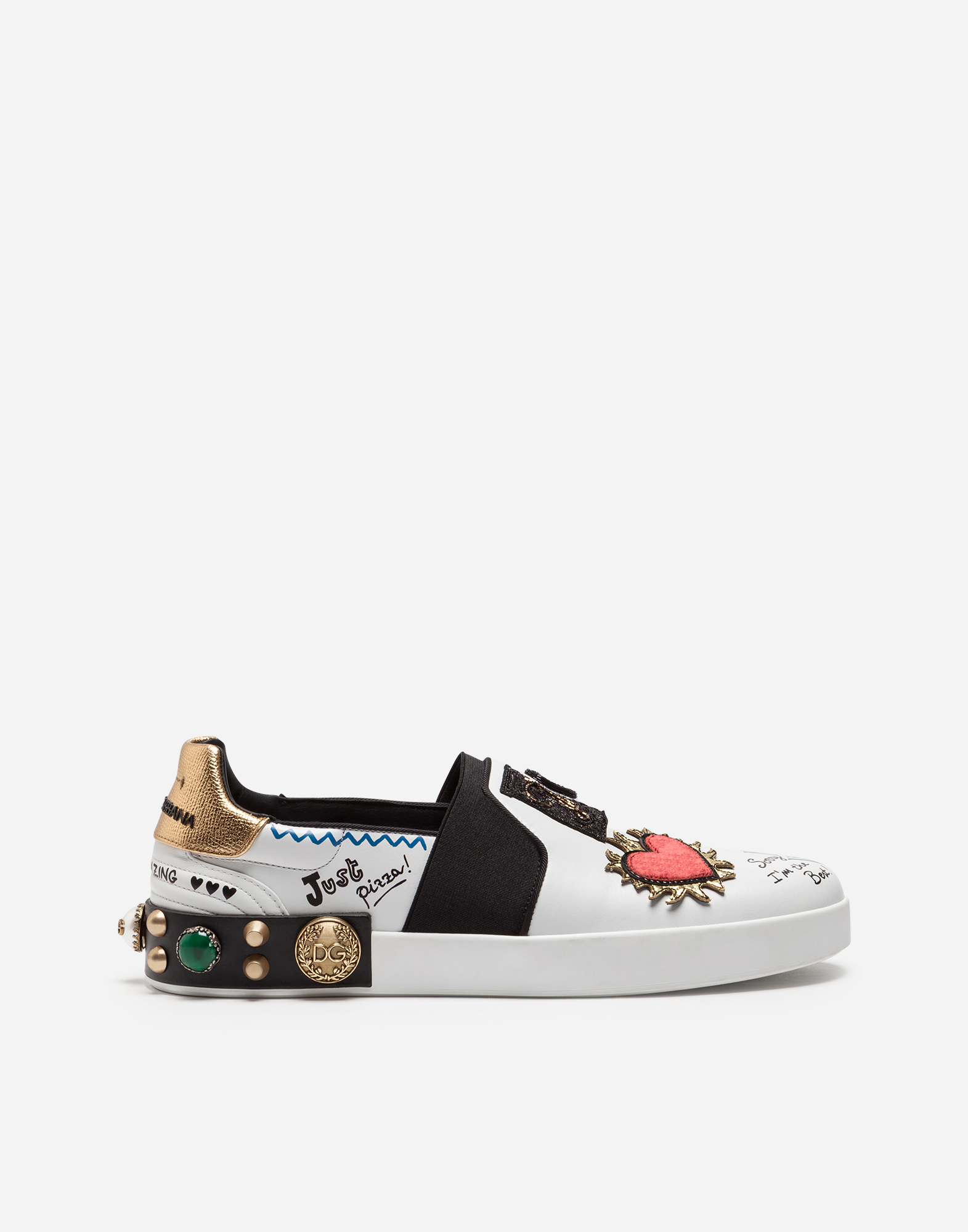 PORTOFINO SLIP-ON SNEAKERS IN PRINTED CALFSKIN