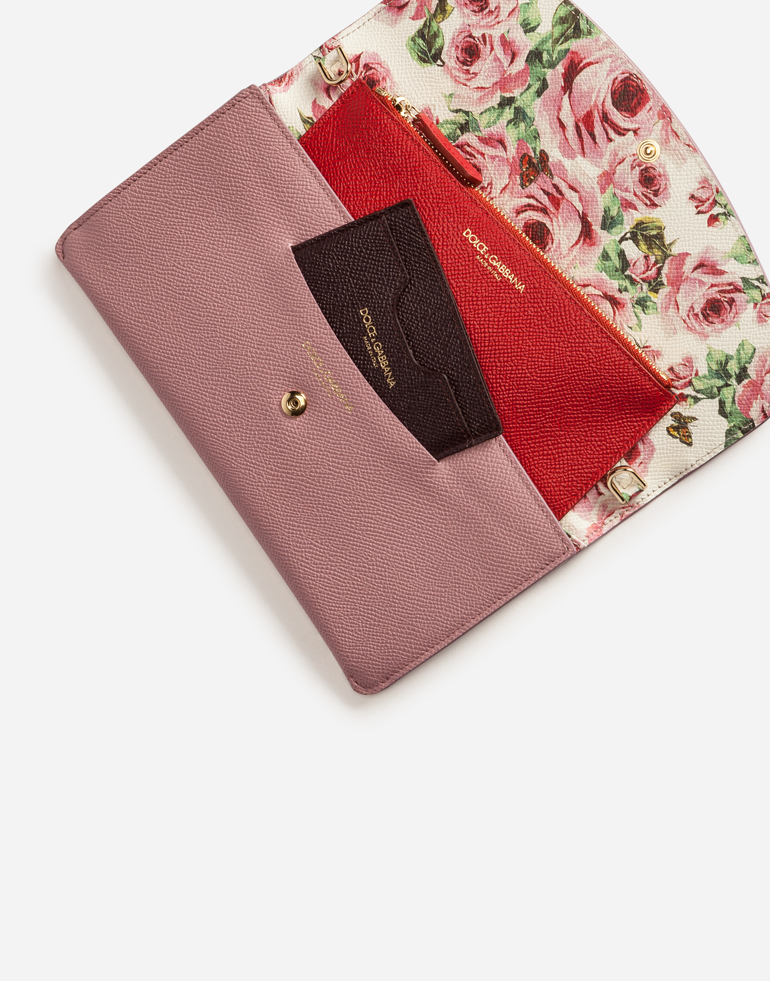 Dolce&Gabbana WALLET BAG IN PRINTED DAUPHINE CALFSKIN
