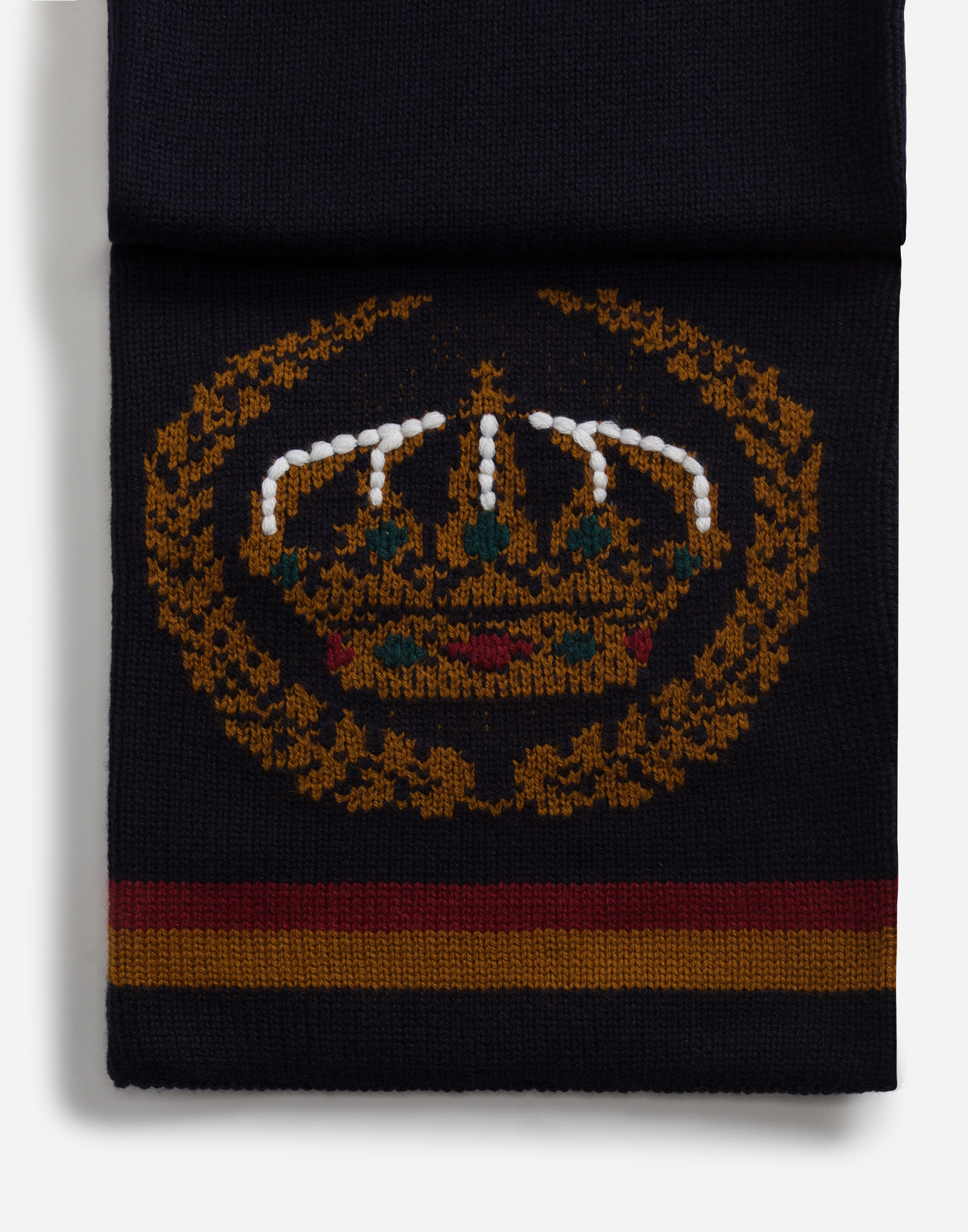 Dolce & Gabbana SCARF IN INLAID CASHMERE AND WOOL WITH EMBROIDERY