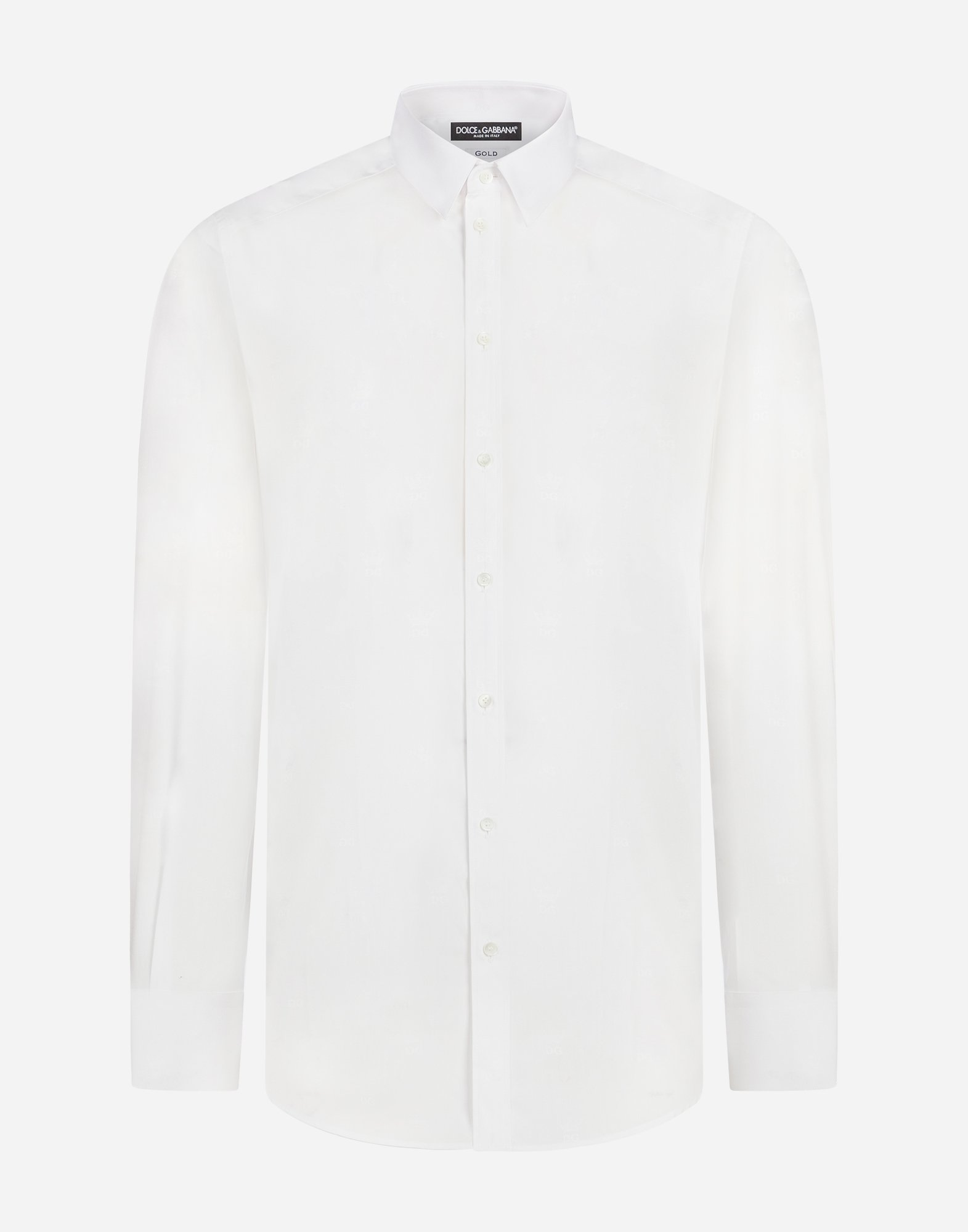 Dolce&Gabbana GOLD FIT SHIRT IN COTTON JACQUARD