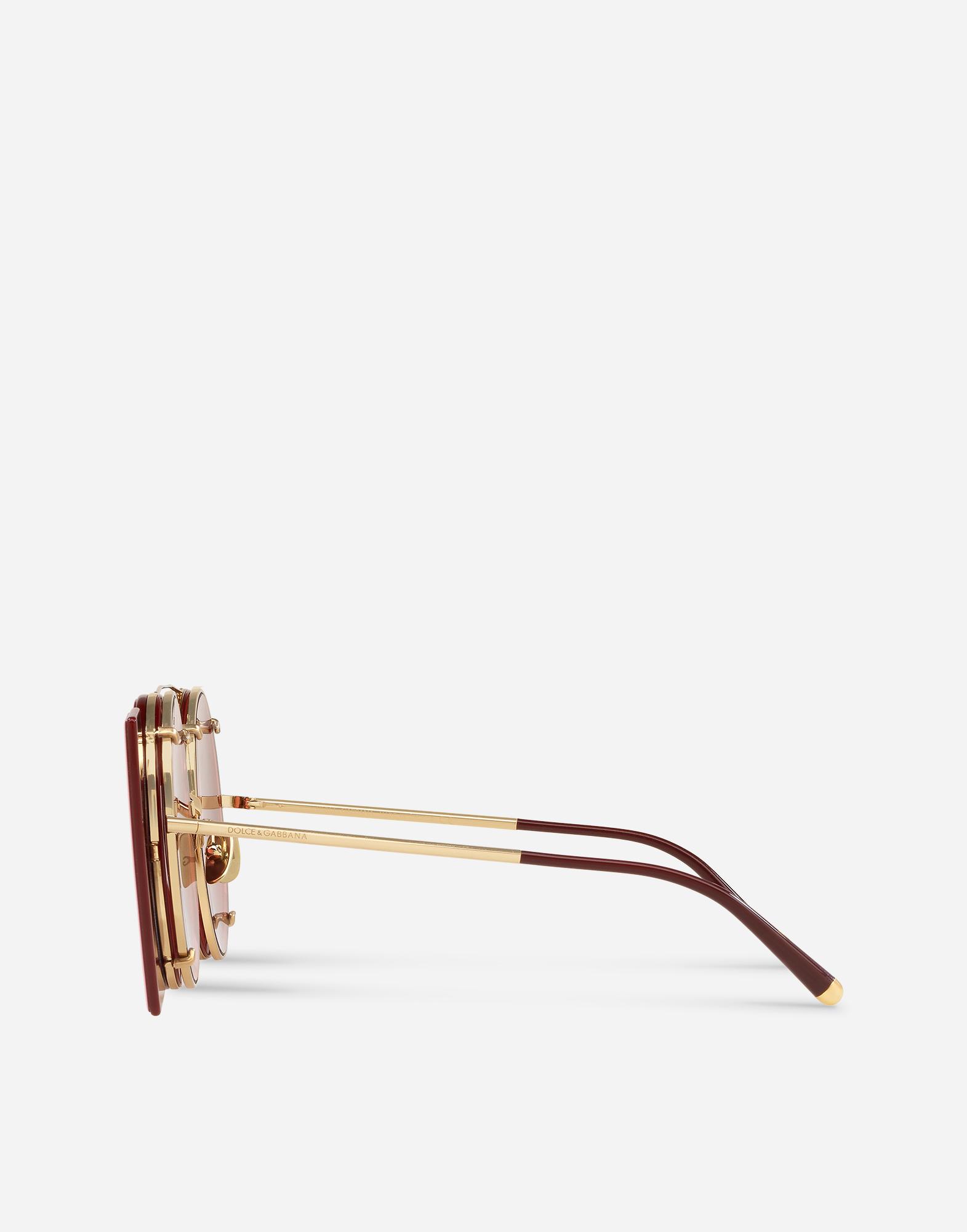 Dolce & Gabbana SUNGLASSES IN GOLD METAL