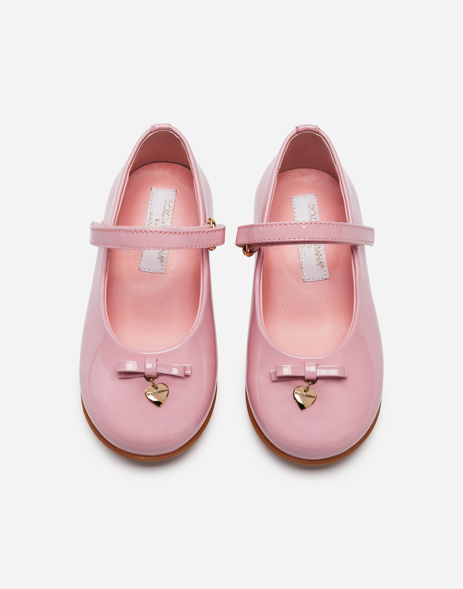 Dolce & Gabbana FIRST STEPS MARY JANE BALLET FLATS IN VARNISH