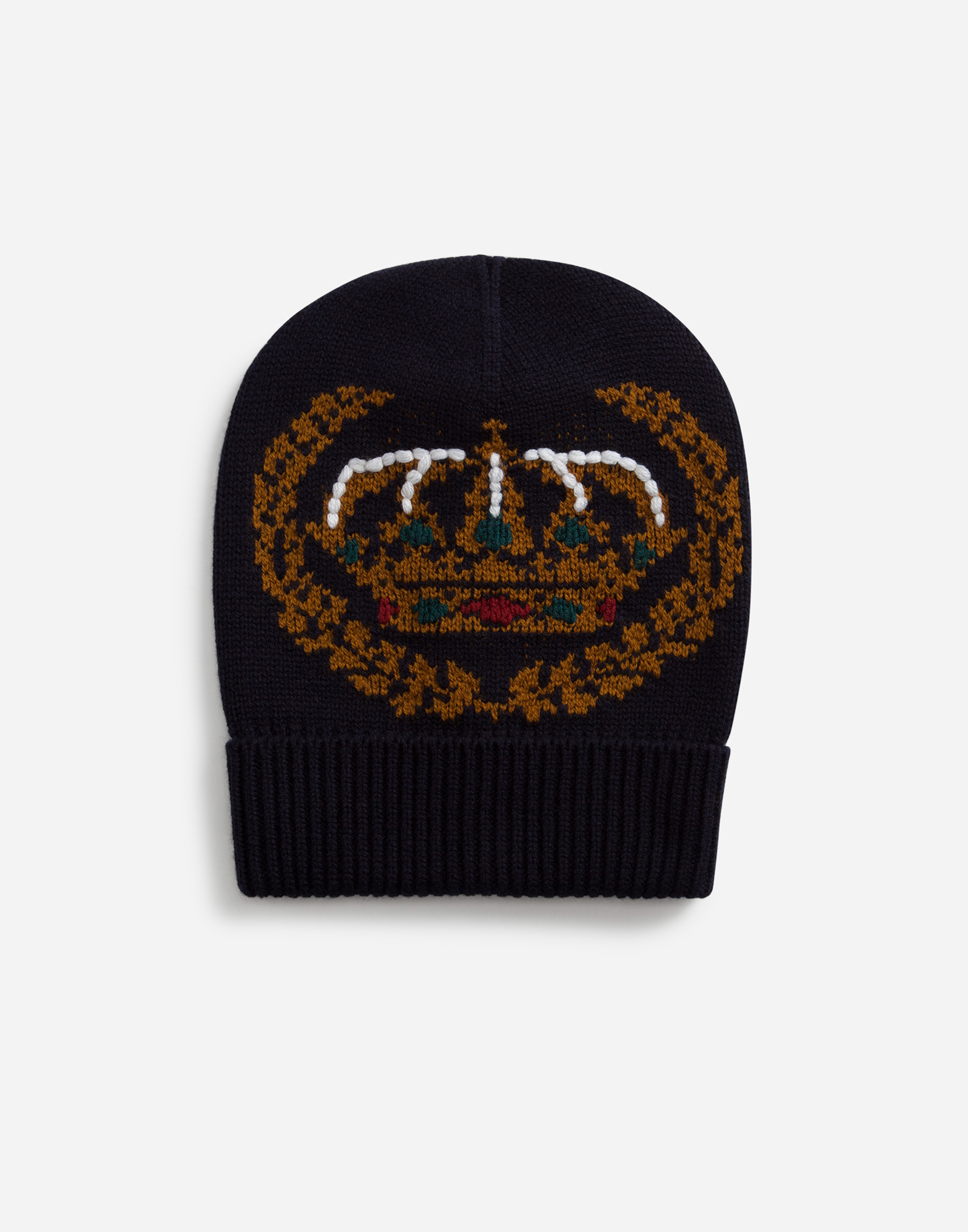 Dolce & Gabbana HAT IN INLAID CASHMERE AND WOOL WITH EMBROIDERY