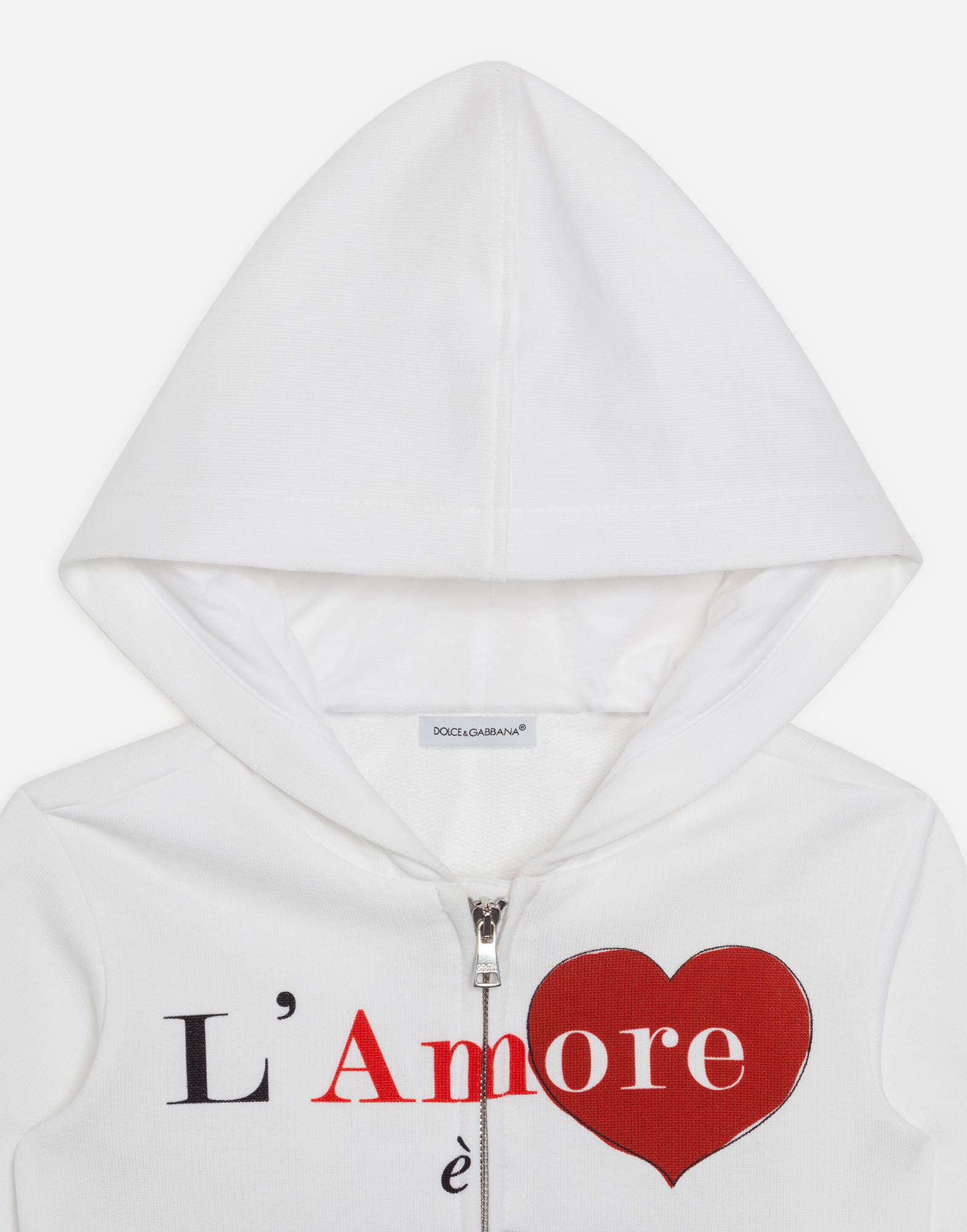 Dolce&Gabbana PRINTED COTTON HOODIE