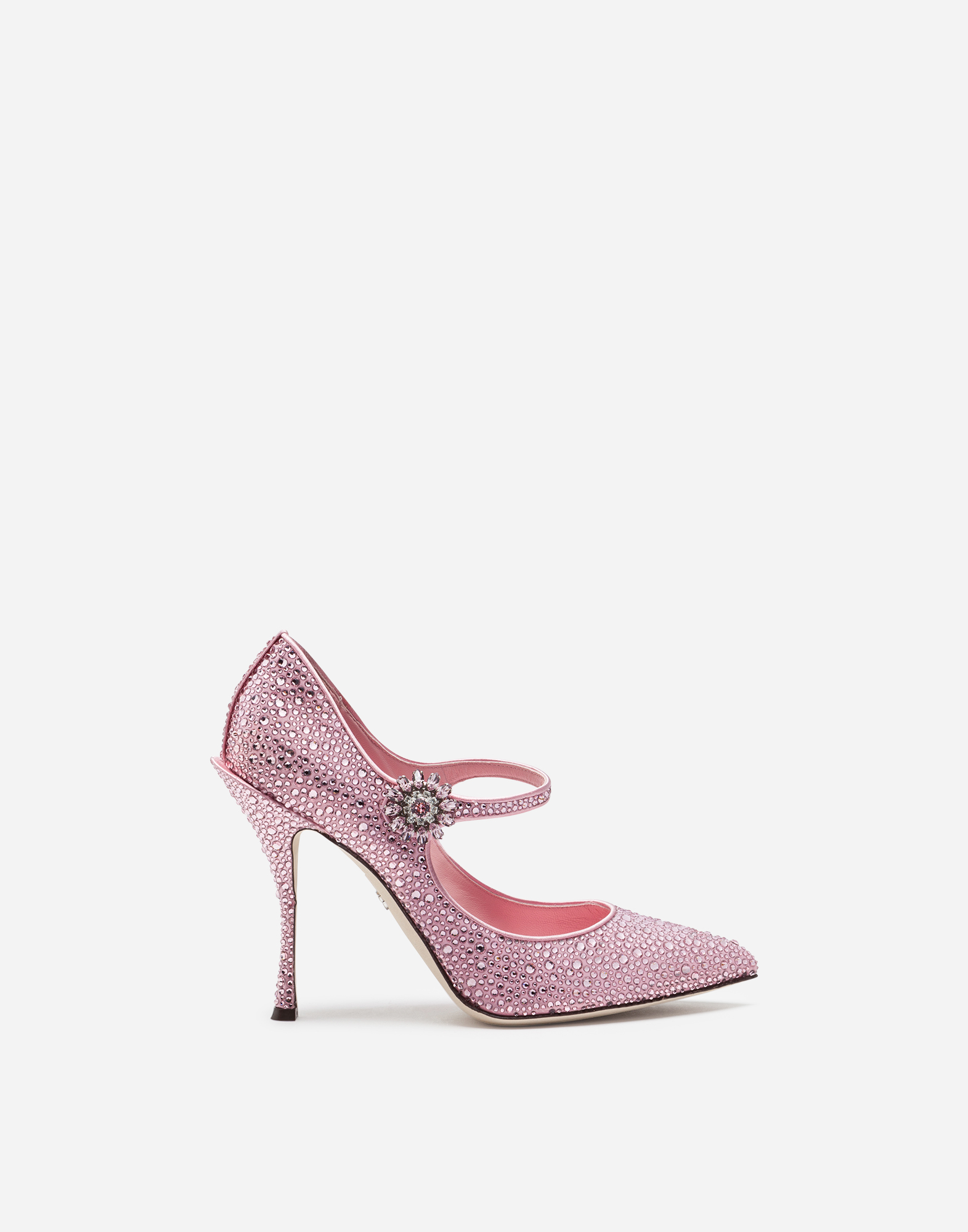 Dolce&Gabbana SATIN MARY JANES WITH CRYSTALS