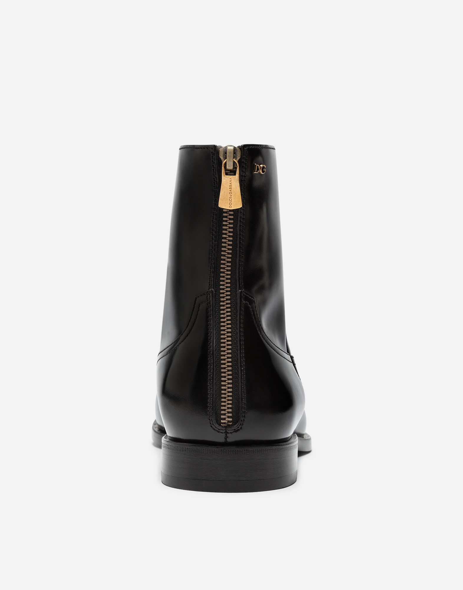 BRUSHED CALFSKIN ANKLE BOOTS