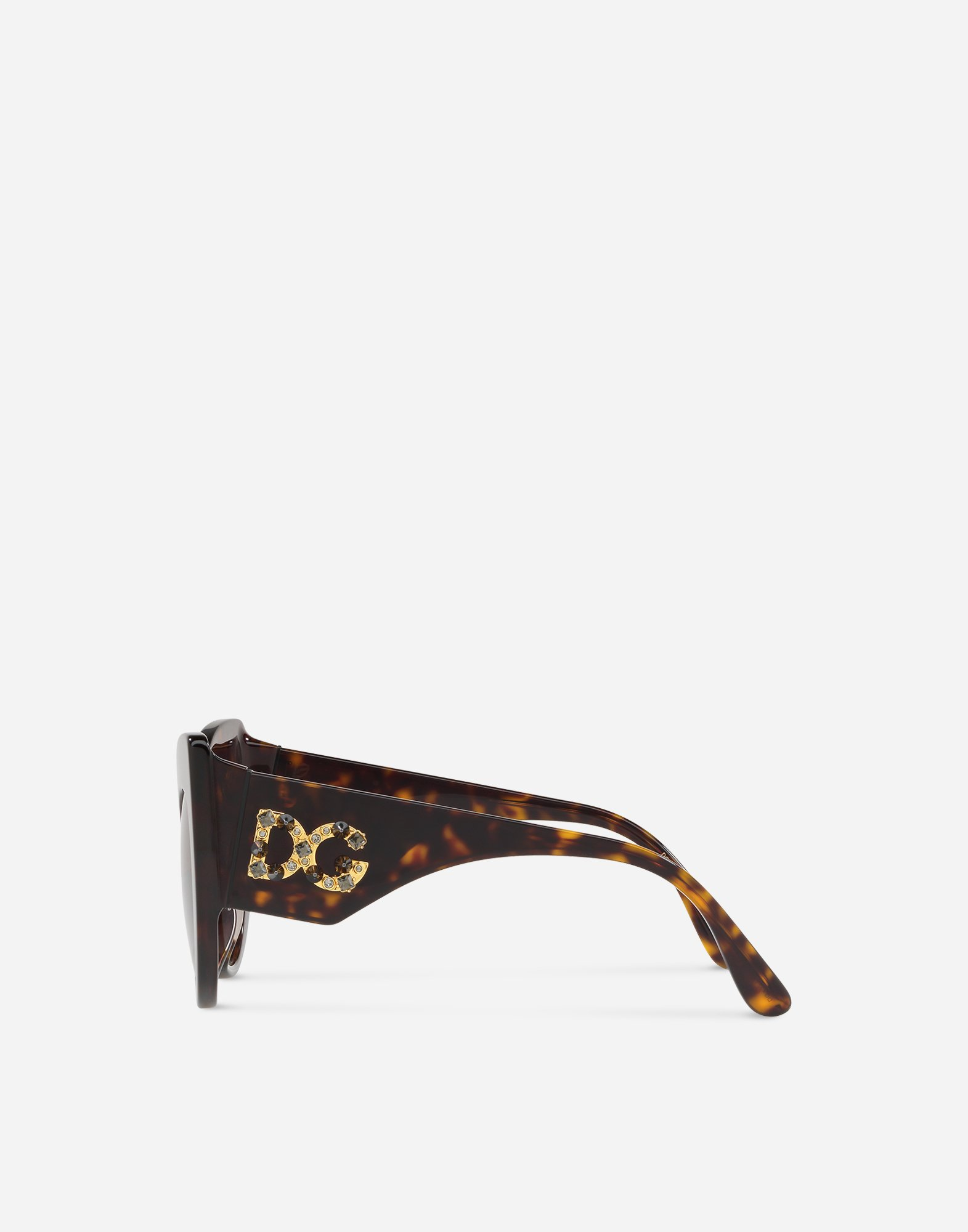 CAT-EYE SUNGLASSES IN ACETATE WITH DG LOGO