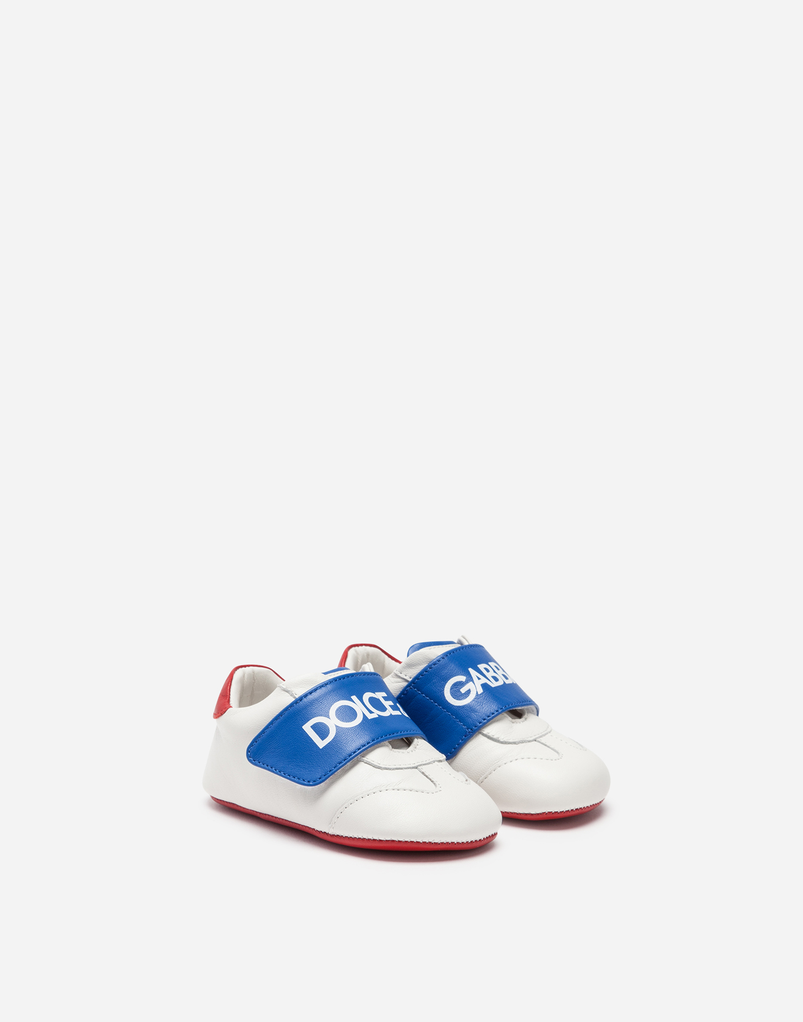 Dolce&Gabbana SNEAKERS IN BRANDED NAPPA LEATHER