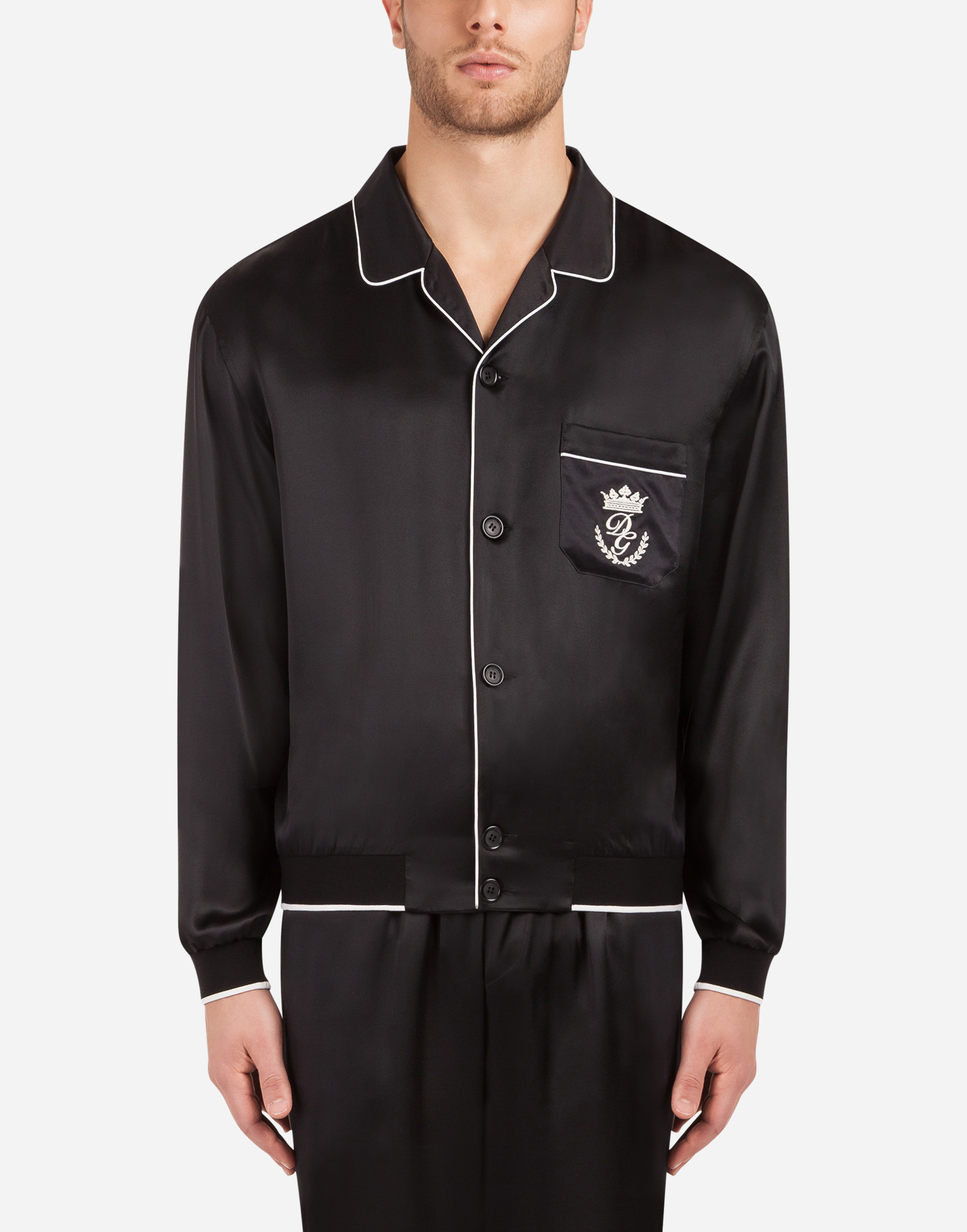 SILK JACKET WITH PATCH