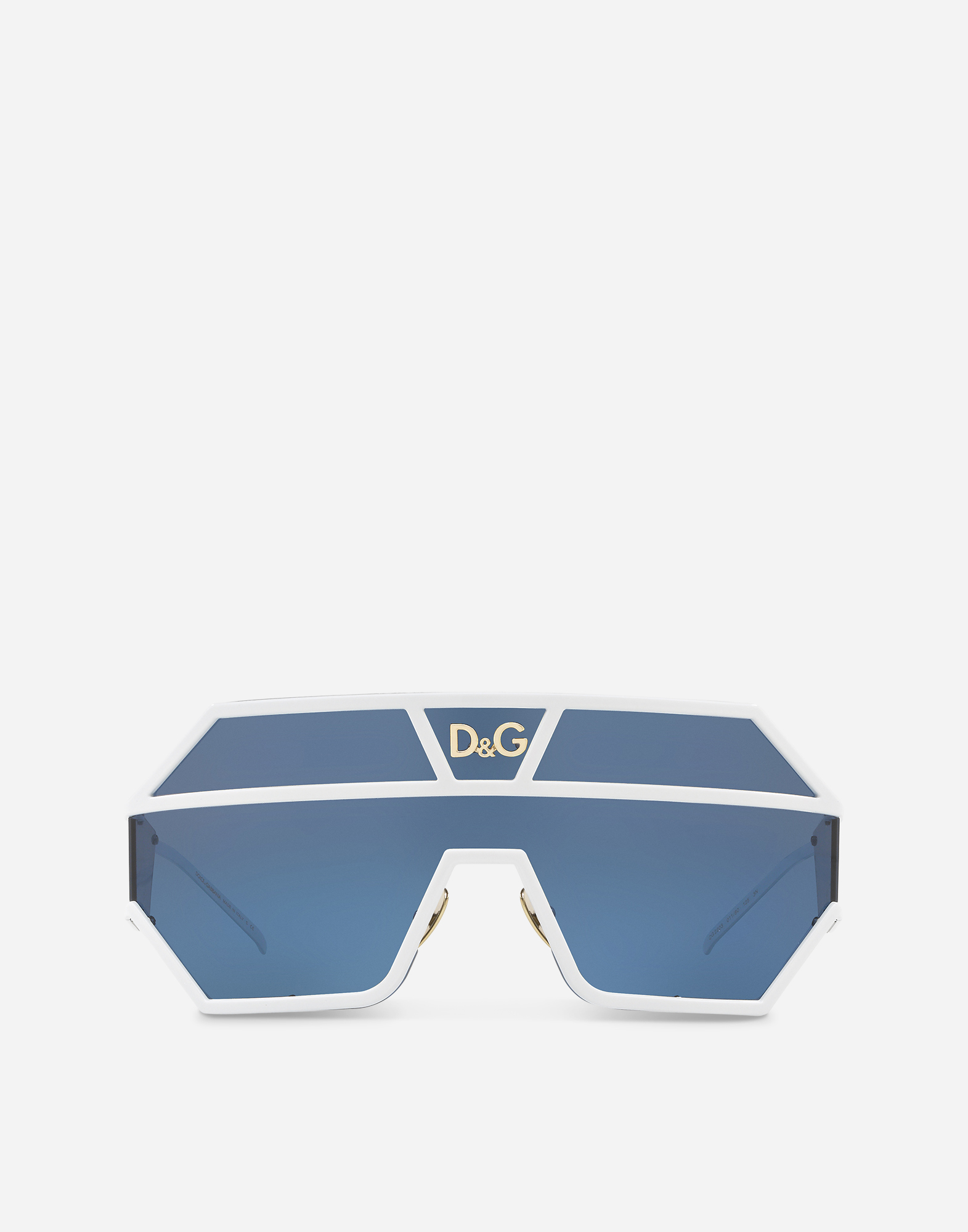 Dolce & Gabbana OVAL SUNGLASSES WITH DG LOGO APPLIQUÉ